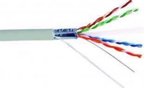 Cablu FTP CAT6 8 fire 056mm din cupru OFC ecranat Well - Conectica -