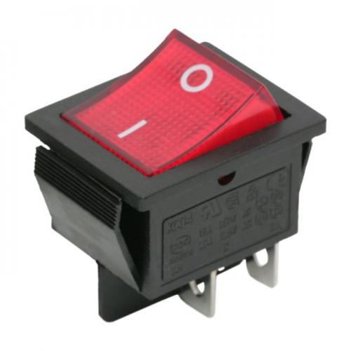 Interupator basculant 1 circuit 16A 250V OFF-ON rosu 217x285mm - Energie si iluminare -  Intrerupator culisant
