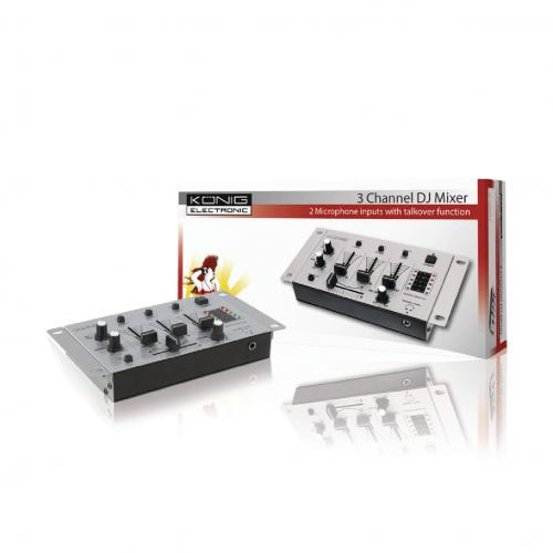 Mixer DJ cu 3 canale Konig - Audio video - Microfon cu fir